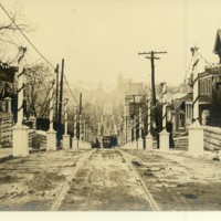 Beverly Street Decorated for Wilson's Visit