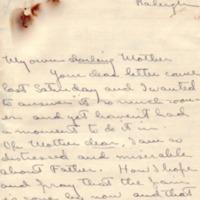 Eleanor Randolph Wilson McAdoo to Ellen Axson Wilson