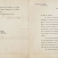 Woodrow Wilson to R. Fulton Cutting