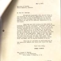 Edward Chambers to Joseph P. Tumulty