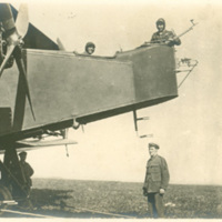 Soldiers and Pilots with Airplane