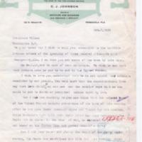 CJ Johnson to Woodrow Wilson