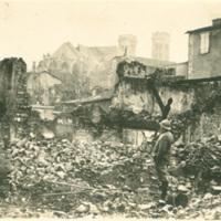 Soldier and Ruins at Verdun