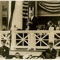 Woodrow Wilson Addressing Young Men's Democratic Club, Shadow Lawn, NJ