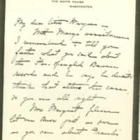 Helen Woodrow Bones to Margaret Axson Wilson