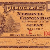 Democratic National Convention Ticket
