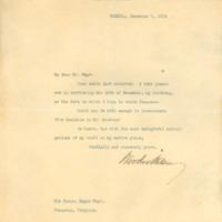 Woodrow Wilson to Martin H. Wayt
