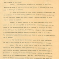 Answers to Questions About the League of Nations