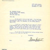 Clarence F. Pritchard to Benjamin Strong III