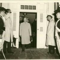 Eisenhower Standing in the Doorway at Mary Baldwin College