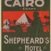 Luggage Label for the Shepheard's Hotel, Cairo