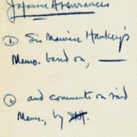 Note on Memo by Sir Maurice Hankey