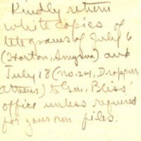 Note on Telegrams Reporting News from Asia Minor