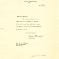 Lewis L. Strauss to Joseph P. Tumulty