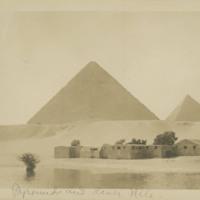 Pyramids and River Nile
