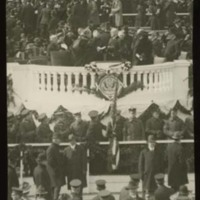 Woodrow Wilson Taking the Oath of Office at His First Inauguration