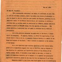Benjamin Strong Jr. to Woodrow Wilson