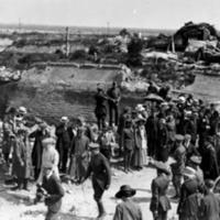 Woodrow Wilson Views Destruction of Nieuport, Belgium