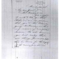 Agnes B. Tedcastle to Woodrow Wilson