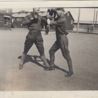 Two Soldiers Boxing