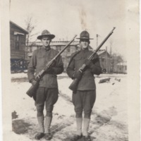 Two Soldiers in the Snow