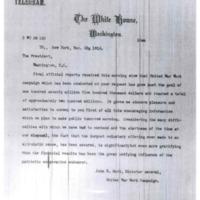 John R. Mott to Woodrow Wilson