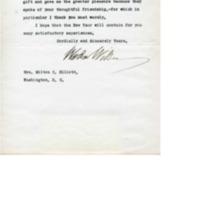 Woodrow Wilson to Milton C. Elliott