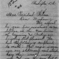 A Poor Widow to Mrs. Woodrow Wilson