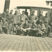 Soldiers Posing with Automobile