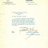 Lurtin R. Ginn to Benjamin Strong Jr.