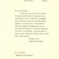 Edgar Rickard to Joseph P. Tumulty