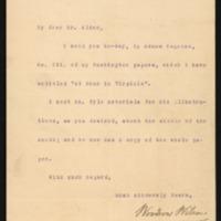 Woodrow Wilson to Henry M. Alden