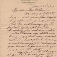 S. Seymour Thomas to Ellen Axson Wilson