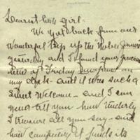 Edith Bolling Wilson to Alice Gertrude Gordon Grayson