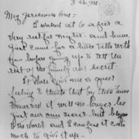 Edith Bolling Wilson to Woodrow Wilson