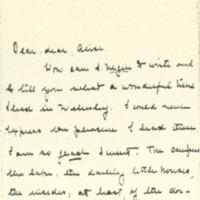 Jessie Woodrow Wilson Sayre to Alice Appenzeller