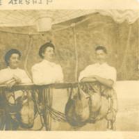 Three People in an Airship