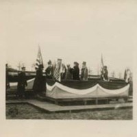 John J. Pershing, Edith Bolling Wilson, and Woodrow Wilson on a Reviewing Stand
