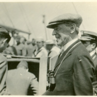 Woodrow Wilson and Admiral Cary T. Grayson on Ship