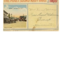 Souvenir Folding Card of the Puget Sound Navy Yard