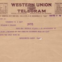 Margeurite Short Tabb to Eleanor Randolph Wilson McAdoo