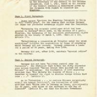 Response to Maurice P. Hankey's Memorandum on the Shantung Question