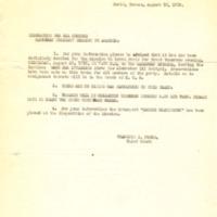 Memorandum to the American Military Mission to Armenia