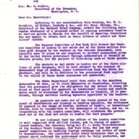Sherman N. Hoover to Benjamin Strong Jr.