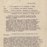 Memorandum on Shantung Situation