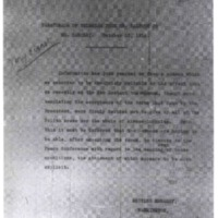 Paraphrase of Telegram from Mr. Balfour to Mr. Barclay