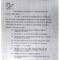 Agreement by the Conference of Ministers