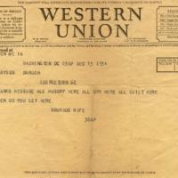 Edwin M. Watson to Cary T. Grayson & Bernard M. Baruch