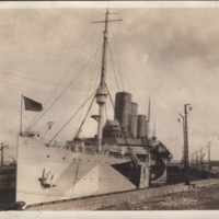 Unidentified Ship at a Dock
