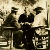 Woodrow Wilson in Conference at Sea Girt